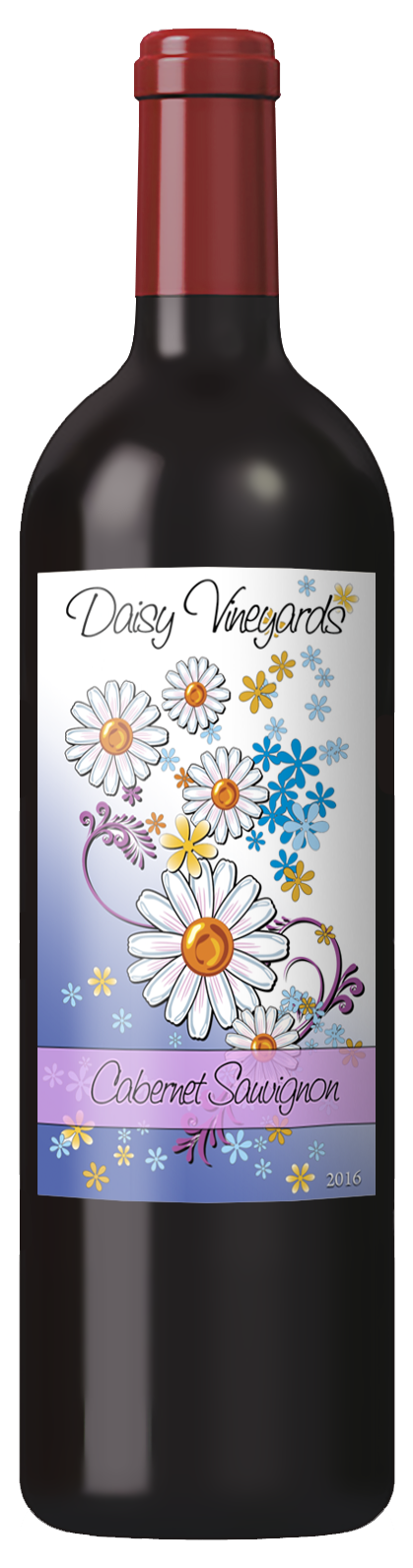 custom wine label with pretty flower illustration