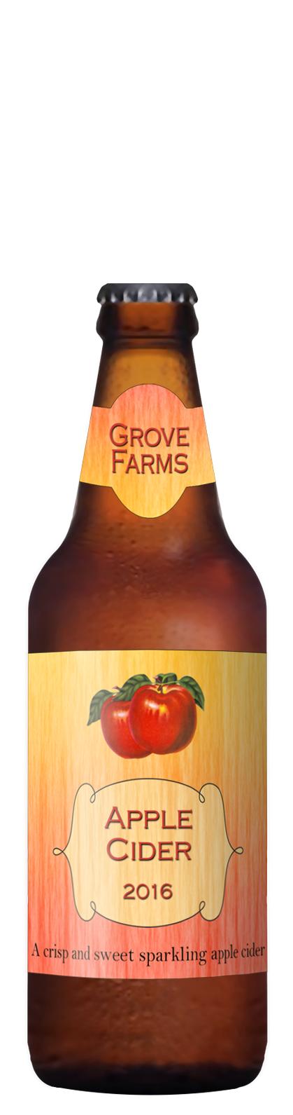 custom cider label with red apples