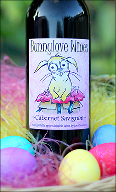 Bunnylove custom wine label