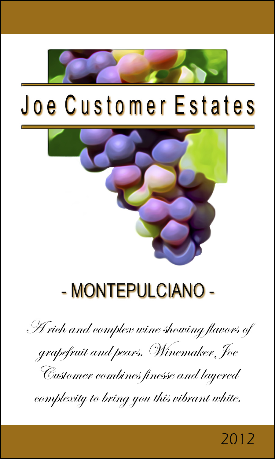 grape personalized wine label