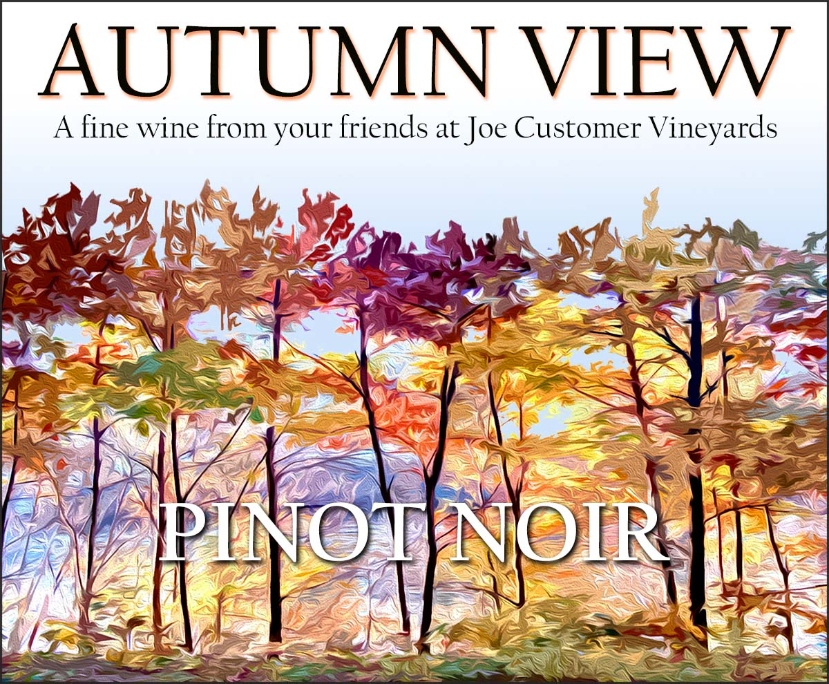 custom wine label of abstract colorful autumn trees