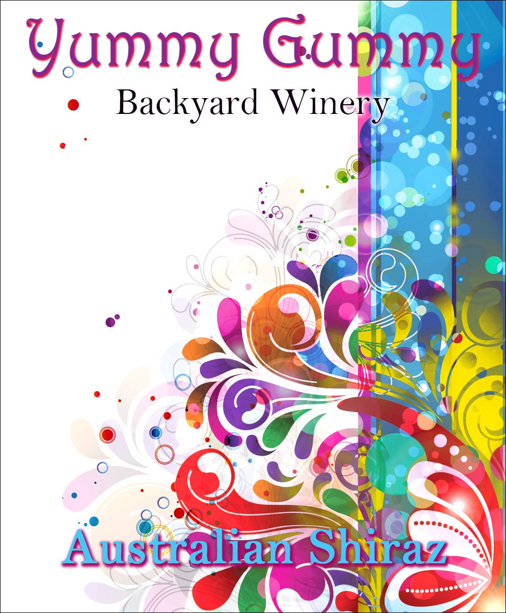 abstract custom wine label