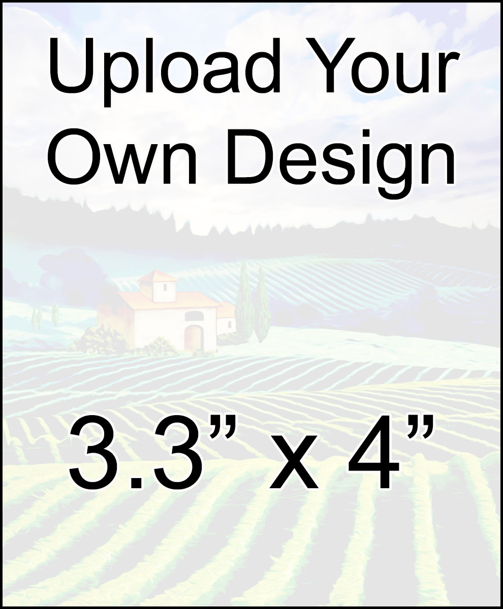 blank reusable custom wine label for you to upload your own image