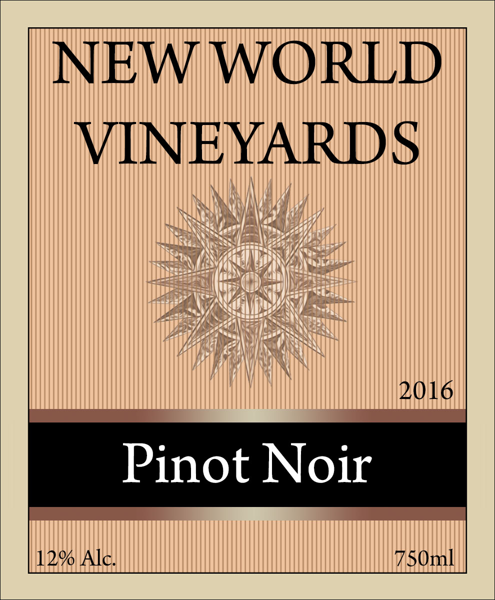 new world custom wine label