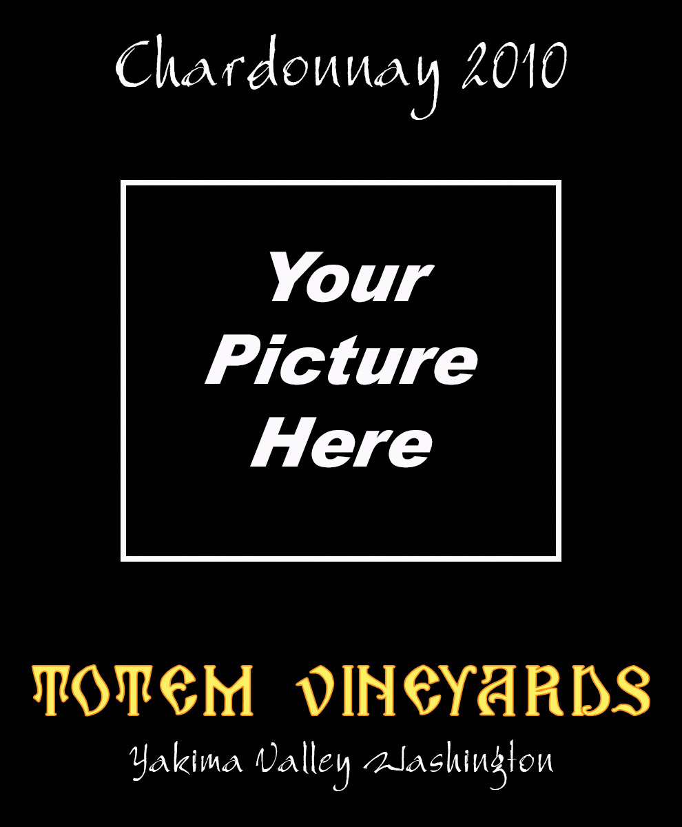 black custom wine labels intended for you to insert your own picture