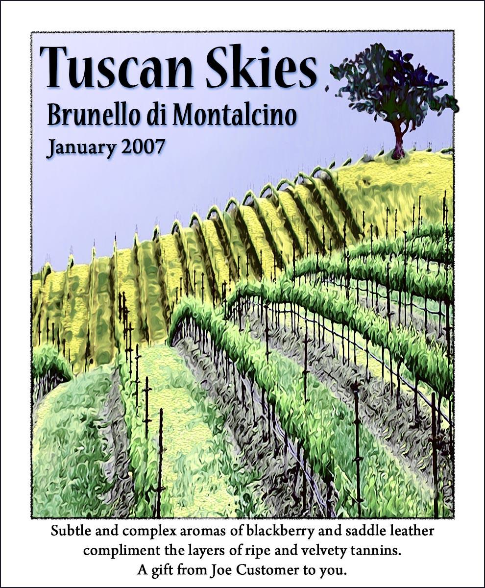 Custom wine label classic