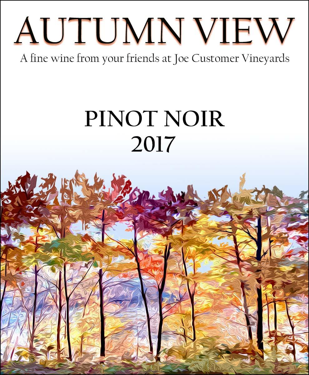 autumn colors custom wine label