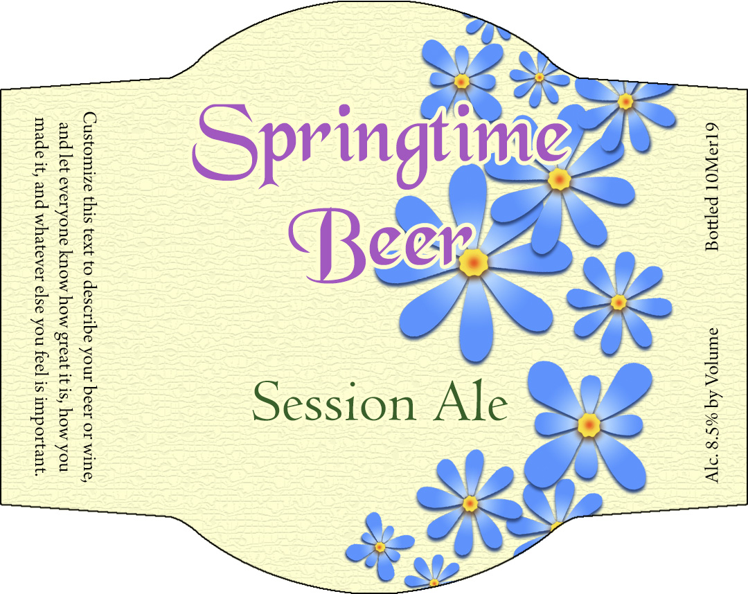 flower custom personalized beer label