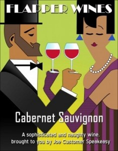 Flapper Custom Wine Labels