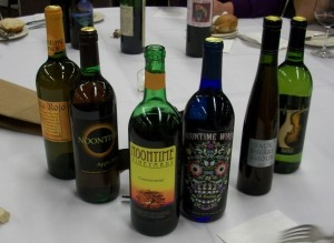 home winemaking conference with custom homemade wine labels