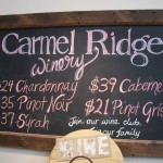 Carmel Ridge Wine Tasting
