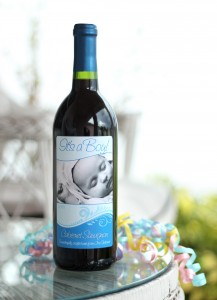 Custom Wine Label Blue Wave