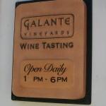 Galante Wine Tasting