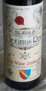 Custom Wine Label Optimus Rex
