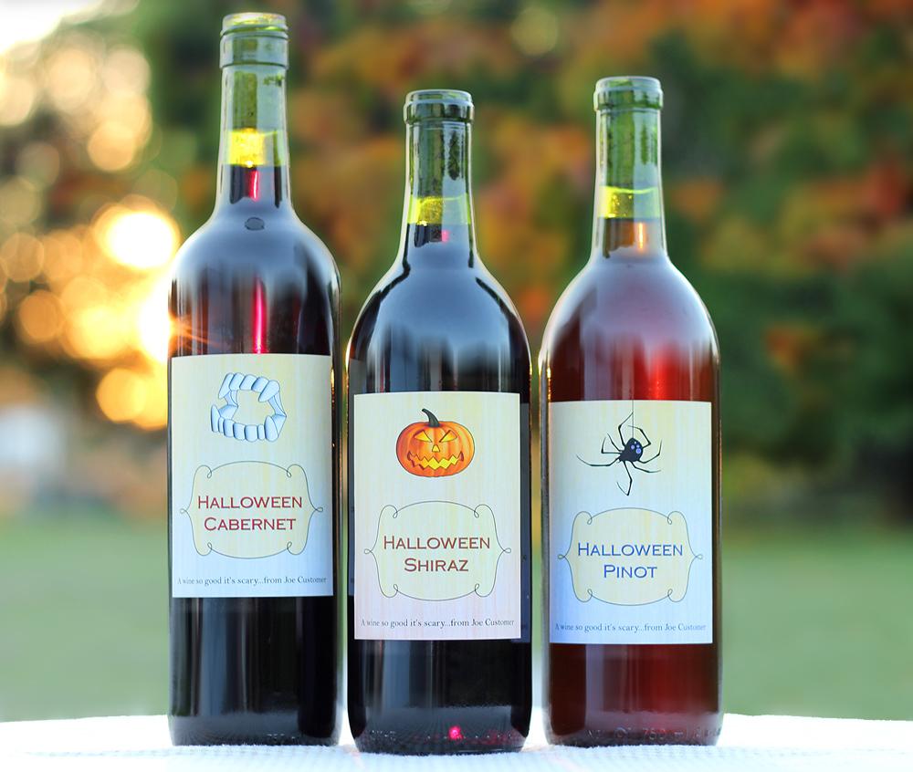Custom Halloween Wine Labels
