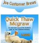 Custom Christmas Beer Label