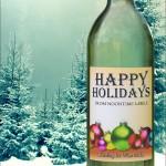 Custom Christmas Wine Label