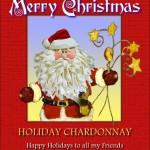 Custom Santa Claus Wine Label