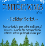 Personalized Holiday Wine Label
