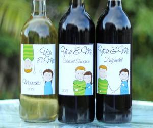 You & Me Custom Wine Bottle Labels