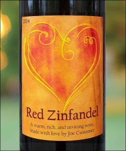 Valentine Custom Wine Label