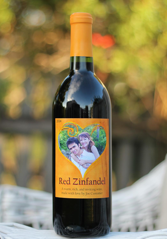 Golden Heart Custom Labels for Homemade Wine