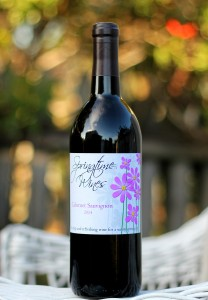 Springtime Wines Custom Wine Label