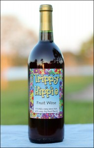 Trippy Hippie Personalized Wine Label