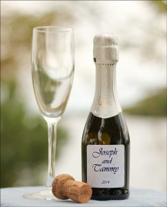 Wedding Wine Bottle Label - Champagne Wedding Favors