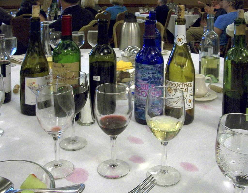 Tasting Homemade Wine at Conference