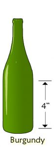 wine bottle size burgundy